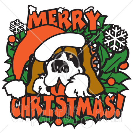 15721_big_st_bernard_on_a_merry_christmas_sign