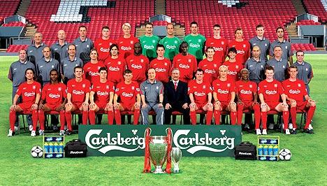 2007/08 Liverpool FC team